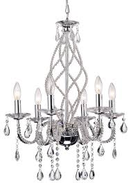 Light Crystal Chandelier Allecra 6 Light Crystal Chandelier Chrome Contemporary