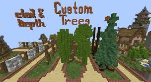 how to build custom trees in minecraft minecraft