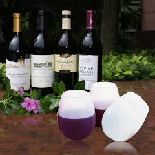 amazon com irainy silicone wine glass set of 2 white tumblers