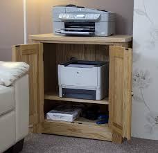 Oak Furniture Uk Kingston Solid Oak Office Computer Furniture Printer Storage Cupboard