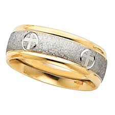 christian wedding bands christian wedding band 14k white gold 14k yellow gold