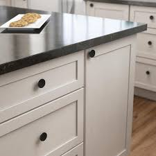 black cabinet door handles lowes brainerd concave 1 4173 in matte black cabinet knob