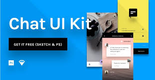 chat free ui kit for photoshop sketch and craft library invision