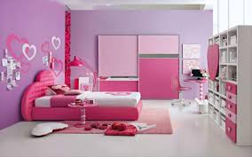 sweet bedroom for girls with cute shelves and sweet wall decal