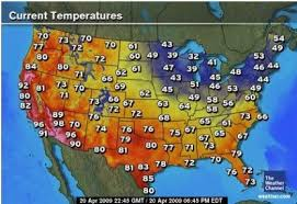 weather usa map weather com today