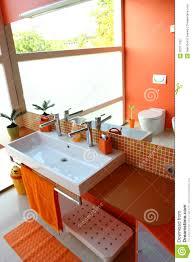 Orange Bathroom Modern Kids Bathroom Stock Photography Image 20377162