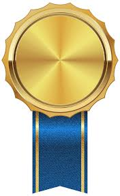 blue and gold ribbon gold medal with blue ribbon png clipart image gallery