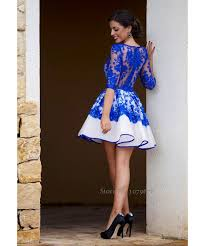 blue dress fashionable sheer royal blue cocktail dresses 2015 new