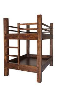 Twin Over Queen Bunk Bed Knotty Alder Construction Antique - Durango bunk bed