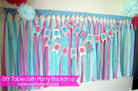 diy photo backdrop cheap and easy party background with tablecloths part 2