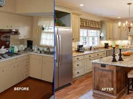 before after kitchen renovation with granite countertop plus