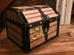 Decorate Cardboard Box Simple Cardboard Pirate Treasure Chest Gift Box 6 Steps With