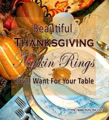 beautiful thanksgiving napkin rings for your table day