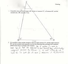 drawing triangles asa students are asked to draw a triangle given