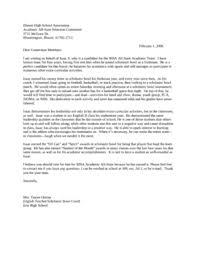 letters of recommendation for college scholarships awards
