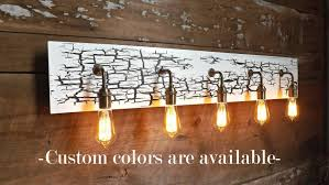 vanity light crackled paint edison wall sconce bathroom light