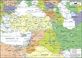 Map Of Mediterranean Countries Geoatlas Continental Maps Near East And Caucasus Map City
