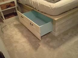Pallet Platform Bed Diy Pallet Bed With Storage U0026 Headboard Pallet Furniture Diy