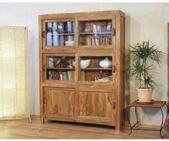 Wooden Cabinet With Glass Doors Cabinet Buffet Bali Sliding And Glass Doors Teak Mahogany Wooden