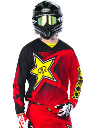 fly womens motocross gear fly racing rockstar red black 2017 kinetic mx jersey ebay