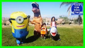 minion vs t rex vs nemo vs shark inflatable halloween costumes for