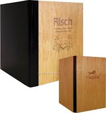 Menu Covers Wholesale Real Wood Menu Covers W Leather Back 2 View 5 1 2