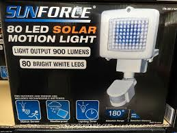 Costco Led Outdoor Lights Sunforce 80 Led Solar Motion Light
