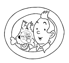tintin and milou coloring pages for kids printable free