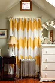 Chevron Pattern Curtains Breathtaking Design Yellow Chevron Curtains Ideas With White