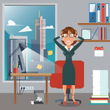 le de bureau à pile femme soumise à une contrainte d affaires dans le lieu de travail de