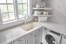 drop in laundry room sink blanco liven silgranit laundry sink blanco awesome room regarding 2