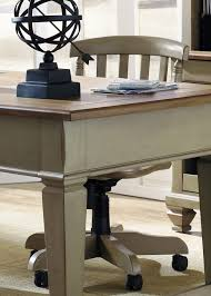 bungalow taupe jr executive home office set from liberty 541