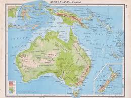 atlas map of australia 1941 map australia physical inset new zealand new guinea