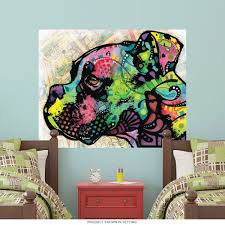 boxer dog profile dean russo dog wall decal pop art wall decor zoom