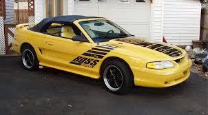 custom 1994 mustang canary yellow 1994 custom ford mustang convertible