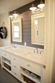 modern farmhouse bathroom decor ideas with cabinets design 48