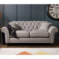 Grey Button Sofa Bordeaux Button Back 4 Seater Grey Fabric Sofa With 2 Accent