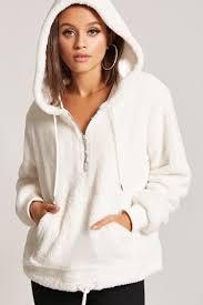 faux fur rose hoodie forever21