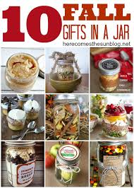 10 fall gifts in a jar holidays gift and craft