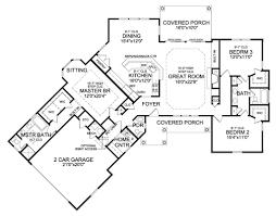 Floor Plan With Garage Craftsman Style House Plan 3 Beds 2 50 Baths 2065 Sq Ft Plan 456 22
