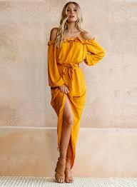 maxi dresses with sleeves women s slash neck sleeve back slit maxi dress novashe