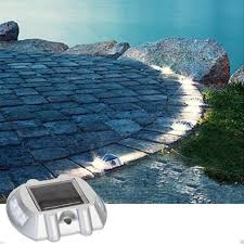 Solar Powered Deck Lights Metal Solar Power Led Path Driveway Pathway Deck Light Outdoor