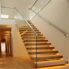 Glass Stairs Design Standoff Glass Stair Railing Design Pr B62