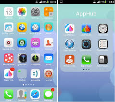 center android get ios 7 theme launcher on android center notification