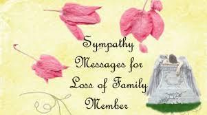 sympathy message loss family member jpg