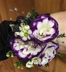 purple corsage purple white lisianthus corsage in platte city mo platte city