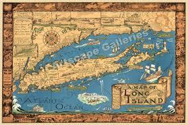 Long Island New York Map by Long Island New York 1933 Historic Map Wall Decor Print Poster Ebay