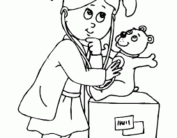 doctor coloring pages preschool coloring kids