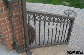 Decorative Wrought Iron Railings Decor Stone Pavers Design Ideas With Wrought Iron Railing Also