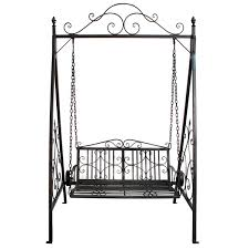 Wrought Iron Patio Swing by Bentley Garden Wrought Iron Outdoor Swing Seat Grey Wrought
